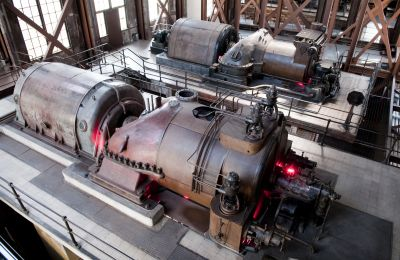 heat recovery steam generator, hrsg, steam turbine with generator, generator, gas turbine with generator, condenser with cooling tower, boiler feedwater system, bfw, thermal power plant, combined cycle power plant